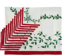 lenox 60 x 140 water repel tablecloth w 12 napkins