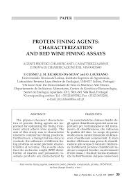 chambre d h ital protein fining agents characterization and wine fining assays