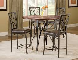 sanford merlot 5 piece counter height table and 4 chairs black