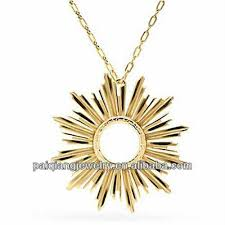 unique design initial gold sun pendant necklace buy gold