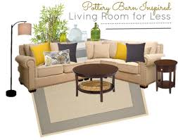 pottery barn look pottery barn living room for less moodboard inspired look saving