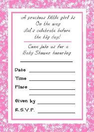 printable baby shower invitations baby girl shower invitations
