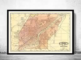 toledo ohio map map of toledo ohio 1892 maps and vintage prints