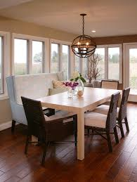 Kitchen Booth Seating Kitchen Transitional Banquette Bench Kitchen Traditional With Chandelier Breakfast Nook