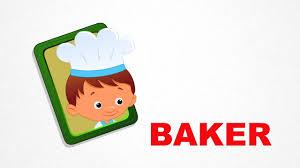 baker occupation pre learn spelling videos for kids