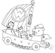 wonder pets coloring pages linny turtle tuck and ming ming sailing