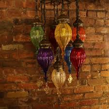 Chandelier India by Our Mosaic Lamps Are Handmade Of Colored Glass And Finished Brass
