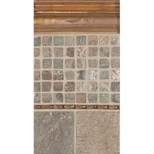 daltile cristallo glass 8 x 3 decorative vine chair rail tile