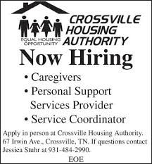 hiring in crossville tn crossville chronicle classifieds employment
