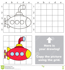 copy the image using grid submarine stock vector image 75236213