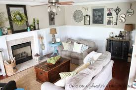 Chic Coastal Living by Chic On A Shoestring Decorating My Farmhouse Chic Living Room Reveal