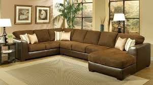 amazon com sectional sofa couch chaise with chocolate cushion