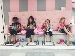 Nail Salon With Kid Chairs Kids Spa Pedicure Bench Sassy Princess Spa For Girls Nails