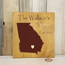 state shaped gifts primitive state shaped family sign personalized state