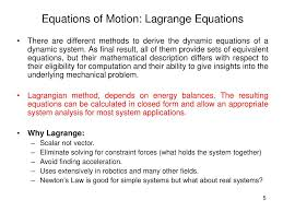 ppt lagrange equations use kinetic and potential energy to solve