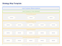 strategy map template a simple strategic plan template by ex mckinsey consultants