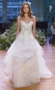 dropwaist tired lace wedding dresses 2017 monique lhuillier bridal