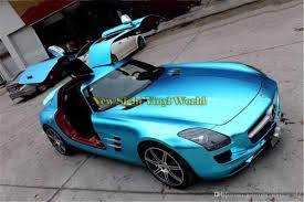 matte teal car high quality crystal blue matte metallic satin chrome vinyl car