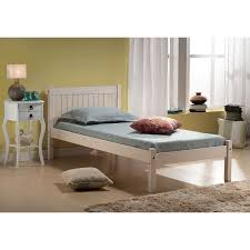 rio whitewash wooden bed frame next day select day delivery