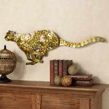 silent stalker cheetah metal wall sculpture