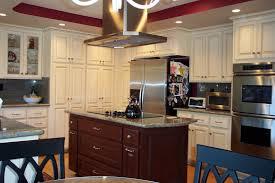 Kitchen Cabinets Island Kitchen Kitchen White Glaze Cabinets With Brown Island Grey