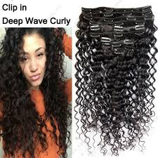 hair clip ins curly hair clip ins human hair extensions 10pcs 120g set peruvian