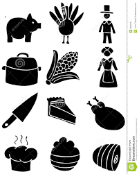 thanksgiving icons black and white stock vector illustration of