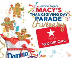 sugar macy s thanksgiving day parade giftcard giveaway sweepstakes