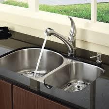 Bathroom Sink Fixtures Faucets by Kitchen Kohler Karbon Two Hole Deck Mount Kitchen Sink Faucet