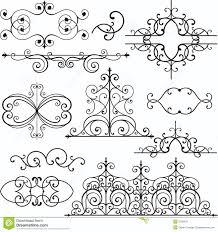 wrough iron ornaments stock illustration illustration of exquisite