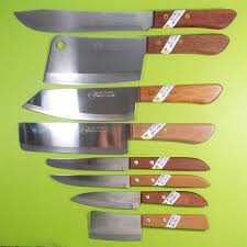 thai chef knife cook kiwi knives set 8 pcs wood handle kitchen