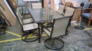 Patio Furniture With Swivel Chairs by Wonderful Patio Set With Swivel Chairs Patio Table With Swivel