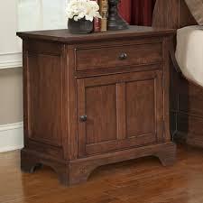 cresent furniture retreat cherry 1 drawer nightstand u0026 reviews