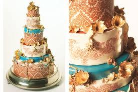 Exceptional Detail Indian Wedding Cake Letterpress Wedding