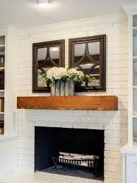 Wooden Mantel Shelf Designs by Best 25 Brick Fireplace Mantles Ideas On Pinterest Brick