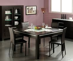 Contemporary Dining Room Tables And Chairs Solid Wood Transitional Style 9 Pc Black Dining Room Table Chair