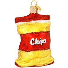 potato chip bag glass ornament old world christmas ornaments