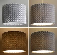 faceted pendant lights u2013 the large drum shade the 3 r u0027s blog