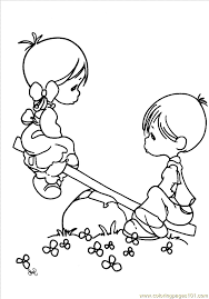 printable 18 precious moments couples coloring pages 7286