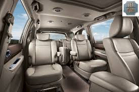 luxury minivan korea 9 seater ssangyong rodius luxury variant launched
