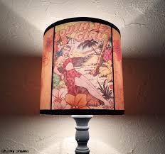 hawaiian pinup tiki lamp shade lampshade pin up lighting
