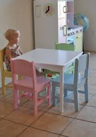kidkraft nantucket 4 piece table bench and chairs set highlighter table and chair set a great table to grow with your