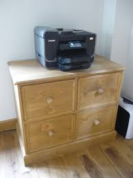 twin four drawer filing cabinet pine shop bury