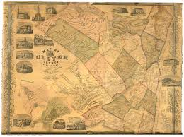 Paper Town Map New York County Wall Maps