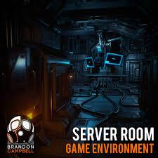 artstation server room ue4 game environment brandon campbell