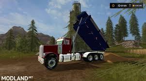 freightliner dump truck freightliner fld12064sd dump truck v 1 1 mod farming simulator 17