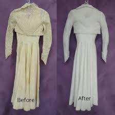 wedding dress restoration vintage wedding gown restored with bolero
