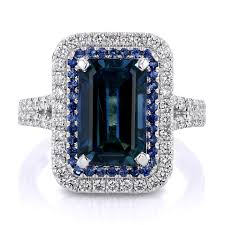 sapphire emerald rings images 5 40ct emerald cut blue sapphire engagement ring jpg