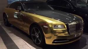 roll royce rollls gold rolls royce wraith driving walkaround youtube