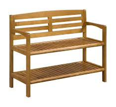 abingdon solid birch wood large bench with back new ridge home goods